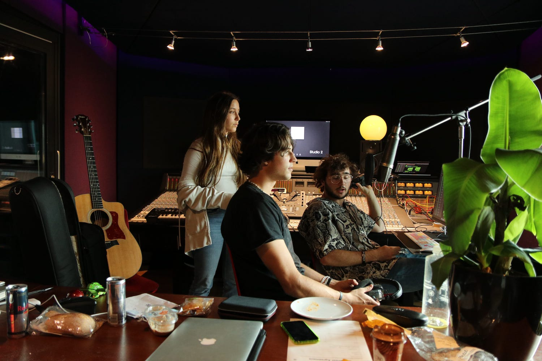 Recording in Studio 2 at Abbey Road Institute Amsterdam