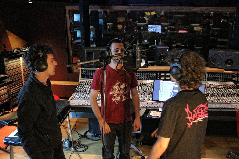 Ben Bultrini in the studio